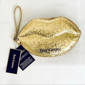 Juicy Couture Lip Charging Cosmetic Bag  Gold-NWT